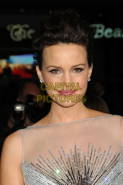 "CARLA GUGINO .""Faster"" Los Angeles Premiere held at Grauman's Chinese Theatre, Hollywood, California, USA, 22nd November 2010..portrait headshot hair up make-up beauty white silver sparkly sleeveless mesh sheer silk satin jewel gem encrusted diamante .CAP/ADM/BP.©Byron Purvis/AdMedia/Capital Pictures."