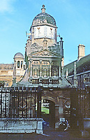 Cambridge: Gate of Honor, Gonville and Caius College, 1560's. Caius, Latinized form of Key--John Key, the 2nd Founder.  Photo '90.