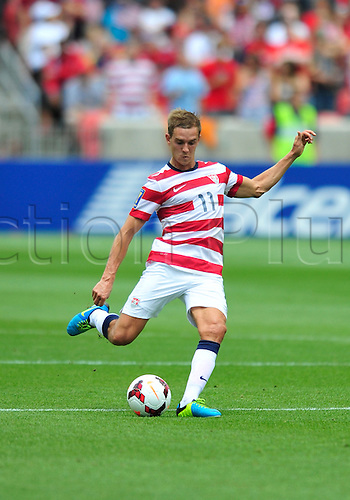 13.07.2013. Sandy, Utah, USA. Stuart Holden from USA during the game. The U.S. Men's National Team defeated the Cuba 4-1 Concacaf Gold Cup at Rio Tinto Stadium in Sandy, Utah.