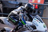 Luca Grünwald in pit line at pre season winter test IRTA Moto3 & Moto2 at Ricardo Tormo circuit in Valencia (Spain), 11-12-13 February 2014