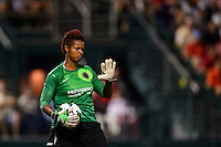 Portland Thorns goalkeeper Karina LeBlanc (1). The Portland Thorns defeated the Western New York Flash 2-0 during the National Women's Soccer League (NWSL) finals at Sahlen's Stadium in Rochester, NY, on August 31, 2013.