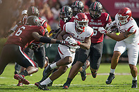 Hawgs Illustrated/BEN GOFF <br /> T.J. Hammonds, Arkansas wide receiver, evades South Carolina defenders on a carry in the first quarter Saturday, Oct. 7, 2017, during the game at Williams-Brice Stadium in Columbia, S.C.