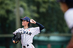 #11 Matsushima Runa of Japan serves during the BFA Women's Baseball Asian Cup match between Japan and Hong Kong at Sai Tso Wan Recreation Ground on September 5, 2017 in Hong Kong. Photo by Marcio Rodrigo Machado / Power Sport Images