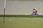 SUZHOU, CHINA - APRIL 15:  Kim Dae-hyun of South Korea looks at his ball after chips into the 16th green during the Round One of the Volvo China Open on April 15, 2010 in Suzhou, China. Photo by Victor Fraile / The Power of Sport Images
