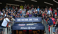 Saint Paul, MN - SEPTEMBER 03: USA supporters of the United States during their 2019 Victory Tour match versus Portugal at Allianz Field, on September 03, 2019 in Saint Paul, Minnesota.