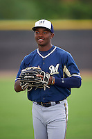 Milwaukee Brewers Troy Stokes (28) before an instructional league game against the San Diego Padres on October 6, 2015 at the Peoria Sports Complex in Peoria, Arizona.  (Mike Janes/Four Seam Images)