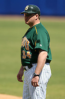 March 14, 2010:  Coach David Pearson (34) of North Dakota State University Bison vs. Akron University at Chain of Lakes Park in Winter Haven, FL.  Photo By Mike Janes/Four Seam Images