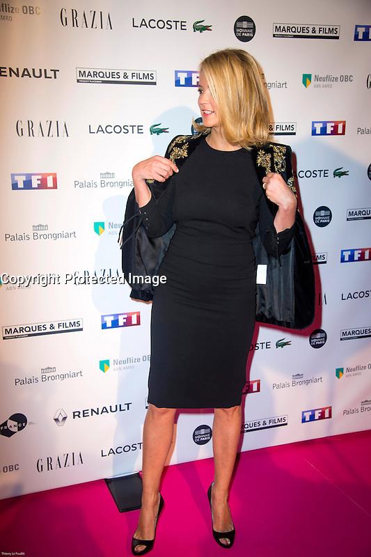 Virginie Efira ‡ la soirÈe des TrophÈes du Film FranÁais 2017 au Palais Brongniart ‡ Paris le 2 fÈvrier 2017. # TROPHEES DU FILM FRANCAIS 2017