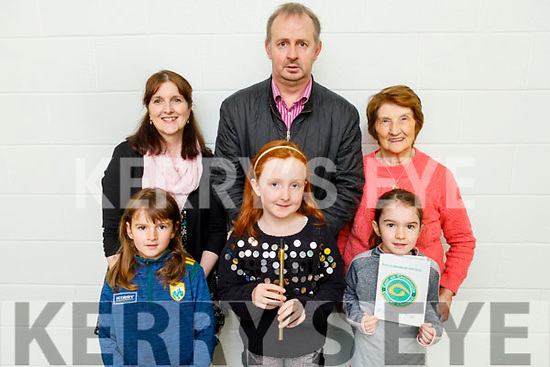 Attending the CCE County finals of Ceol an Gheimhridh in the Duchas Comhaltas Centre, IT Tralee on Saturday. Front l to r: Mary, Grace and Sarah Walsh. Back l to r: Ann Marie and John Walsh with Jean McCarron from Listowel.