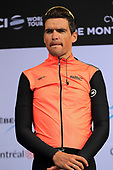 Montreal, Canada. 10/09/2017. Greg Van Avermaet of BMC Racing Team poses for photographers before the Grand Prix Cycliste of Montreal, part of the UCI Worldtour.