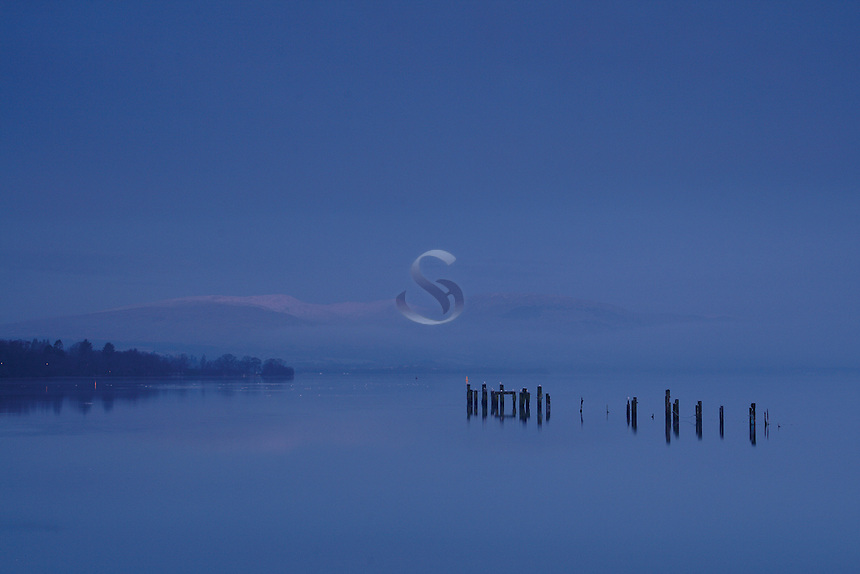 A moody Loch Lomond Shores at dawn, Loch Lomond &amp; The Trossachs National Park<br /> <br /> Copyright www.scottishhorizons.co.uk/Keith Fergus 2011 All Rights Reserved