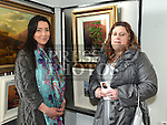 Georgina McGoey and Bernadette Sharkey pictured at an exhibition by the late artist Dahamne Hocine in the Market House Dunleer.  Photo:Colin Bell/pressphotos.ie