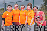 Ryan O'Sullivan, Roisin Sheehan, Aoife Sheehy, Machala Barrett, Megan Kennedy at the Mercy Mounthawk School Fun Run to promote the Cycle Against Suicide Campaign on Friday