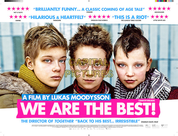 BRITISH POSTER ART<br /> in We Are the Best! (2013) <br /> (Vi ar bast!)<br /> *Filmstill - Editorial Use Only*<br /> CAP/FB<br /> Image supplied by Capital Pictures