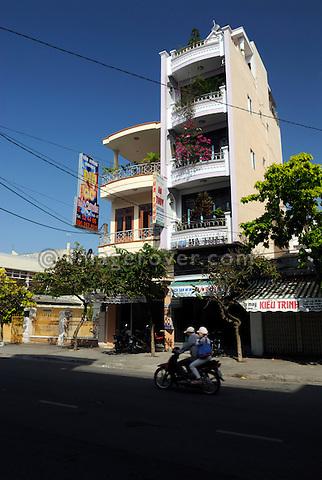 Asia, Vietnam, Nha Trang. Typical modern guest house.