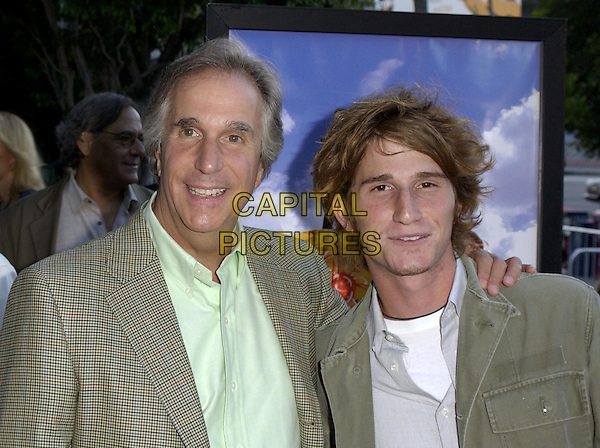 Henry Winkler & Son.At the Fox Searchlight Pictures' Los Angeles Premiere of Garden State held at The Directors Guild,.July 20th 2004..portrait headshot family.Ref: DVS.www.capitalpictures.com.sales@capitalpictures.com.©Capital Pictures.