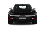 Straight rear view of a 2019 Porsche 718 Cayman Base 2 Door Coupe stock images