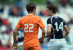 GER - Mannheim, Germany, May 16: During the whitsun tournament boys hockey match between Germany (black) and The Netherlands (orange) on May 16, 2016 at Mannheimer HC in Mannheim, Germany. Final score 4-3 (HT 2-0). (Photo by Dirk Markgraf / www.265-images.com) *** Local caption *** Alexander Schop #22 of The Netherlands
