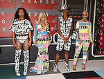 LOS ANGELES, CA - AUGUST 30:  Blac Chyna (2nd L) and Amber Rose (R) arrive at the 2015 MTV Video Music Awards at Microsoft Theater on August 30, 2015 in Los Angeles, California.