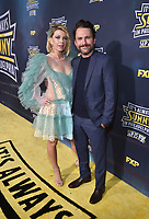 """HOLLYWOOD - SEPTEMBER 24: Charlie Day and Mary Elizabeth Ellis attend the red carpet premiere event for FXX's """"It's Always Sunny in Philadelphia"""" Season 14 at TCL Chinese 6 Theatres on September 24, 2019 in Hollywood, California. (Photo by Stewart Cook/FXX/PictureGroup)"""