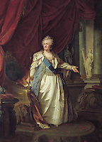 Portrait by Johann-Baptist Lampi the Elder, 1793 - Catherine The Great-