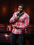 Cast member Okieriete Onaodowan performing before the Gilder Lehman Institute of American History Education Matinee of 'Hamilton' at the Richard Rodgers  Theatre on November 2, 2016 in New York City.