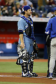May 23rd 2008:  Catcher Gregg Zaun (9) of the Toronto Blue Jays during a game at the Rogers Centre in Toronto, Ontario, Canada .  Photo by:  Mike Janes/Four Seam Images