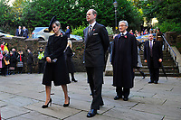 Pictured: Sophie, Countess of Wessex (left) and Prince Edward, Earl of Wessex arrive at Llandaff Cathedral, Cardiff, Wales, UK.  Sunday 11 November 2018<br /> Re: Commemoration for the 100 years since the end of the First World War on Remembrance Day at the Llandaff Cathedral, in Llandaff, Cardiff, Wales, UK.