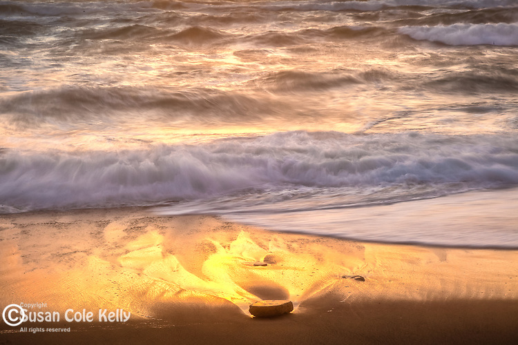 A golden sunrise in the Cape Cod National Seashore, Eastham, MA, USA