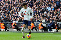 Son Heung-Min of Tottenham Hotspur during Tottenham Hotspur vs Crystal Palace, Premier League Football at Wembley Stadium on 5th November 2017
