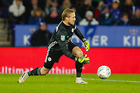8th January 2020; King Power Stadium, Leicester, Midlands, England; English Football League Cup Football, Carabao Cup, Leicester City versus Aston Villa; Kasper Schmeichel of Leicester City - Strictly Editorial Use Only. No use with unauthorized audio, video, data, fixture lists, club/league logos or 'live' services. Online in-match use limited to 120 images, no video emulation. No use in betting, games or single club/league/player publications