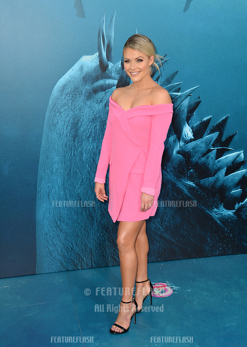 "LOS ANGELES, CA - August 06, 2018: Witney Carson at the US premiere of ""The Meg"" at the TCL Chinese Theatre"