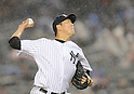 Hiroki Kuroda (Yankees),<br /> JULY 12, 2013 - MLB :<br /> Hiroki Kuroda of the New York Yankees pitches during the Major League Baseball game against the Minnesota Twins at Yankee Stadium in The Bronx, New York, United States. (Photo by AFLO)