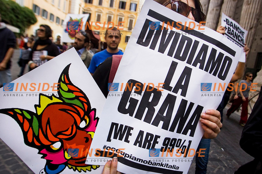MANIFESTAZIONE DEGLI INDIGNATI CONTRO IL GOVERNO E LA CRISI ECONOMICA..ROMA 14 OTTOBRE 2011..PHOTO  SERENA CREMASCHI INSIDEFOTO..............................