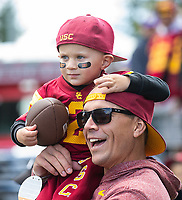 USC had a pretty good contingent rooting them on at Husky Stadium.
