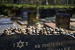 27/03/2017, Berlin, Jewish Cemetary Halensee<br /> <br /> Rabbi Boris Bonis and Shoa Survivor Manfred Friedl&auml;nder on Berlin's Jewish Cemetery Halensee (Heerstra&szlig;e).