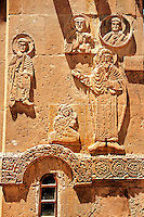 Bas Releif sculptures with scenes from the Bible on the outside of the 10th century Armenian Orthodox Cathedral of the Holy Cross on Akdamar Island, Lake Van Turkey 29