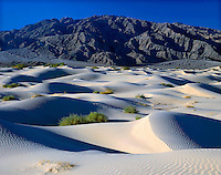 .Sand dunes and Panamint Mountains, Death Valley, California, USA.