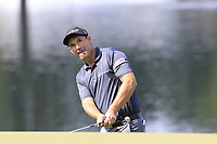 Padraig Harrington (IRL) chips onto the 14th green during Thursday's Round 1 of the 2017 PGA Championship held at Quail Hollow Golf Club, Charlotte, North Carolina, USA. 10th August 2017.<br /> Picture: Eoin Clarke | Golffile<br /> <br /> <br /> All photos usage must carry mandatory copyright credit (&copy; Golffile | Eoin Clarke)
