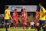 BRISBANE, AUSTRALIA - FEBRUARY 24:  during the NPL Queensland Senior Mens Round 4 match between Olympic FC and SWQ Thunder at Goodwin Park on February 24, 2019 in Brisbane, Australia. (Photo by Patrick Kearney)