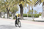 Australian National Champion Luke Durbridge (AUS) Mitchelton-Scott recons the course before the start of Stage 7 of the Race of the Two Seas, the 54th Tirreno-Adriatico 2019, an individual time trial running 10.1km around San Benedetto del Tronto, Italy. 19th March 2019.<br /> Picture: LaPresse/Fabio Ferrari | Cyclefile<br /> <br /> <br /> All photos usage must carry mandatory copyright credit (&copy; Cyclefile | LaPresse/Fabio Ferrari)