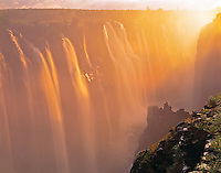 Sunrise at Danger Point  Victoria Falls Natioanal Park, Zimbabwe, Africa Zambezi River at Victoria Falls  February