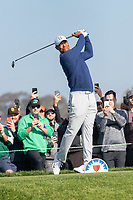 25th January 2020, Torrey Pines, La Jolla, San Diego, CA USA;  Tiger Woods hits off the tee during round 3 of the Farmers Insurance Open at Torrey Pines Golf Club on January 25, 2020