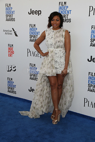 SANTA MONICA, CA - FEBRUARY 25: Taraji P. Henson attends the 2017 Film Independent Spirit Awards at Santa Monica Pier on February 25, 2017 in Santa Monica, California.  (Credit: Parisa Afsahi/MediaPunch).