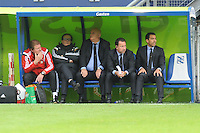 VOETBAL: HEERENVEEN: Abe Lenstra Stadion 21-05-2015, SC Heerenveen - Feyenoord, uitslag 1-0, Feyenoord trainer/coach Giovanni van Bronckhorst en techinische staf, ©foto Martin de Jong