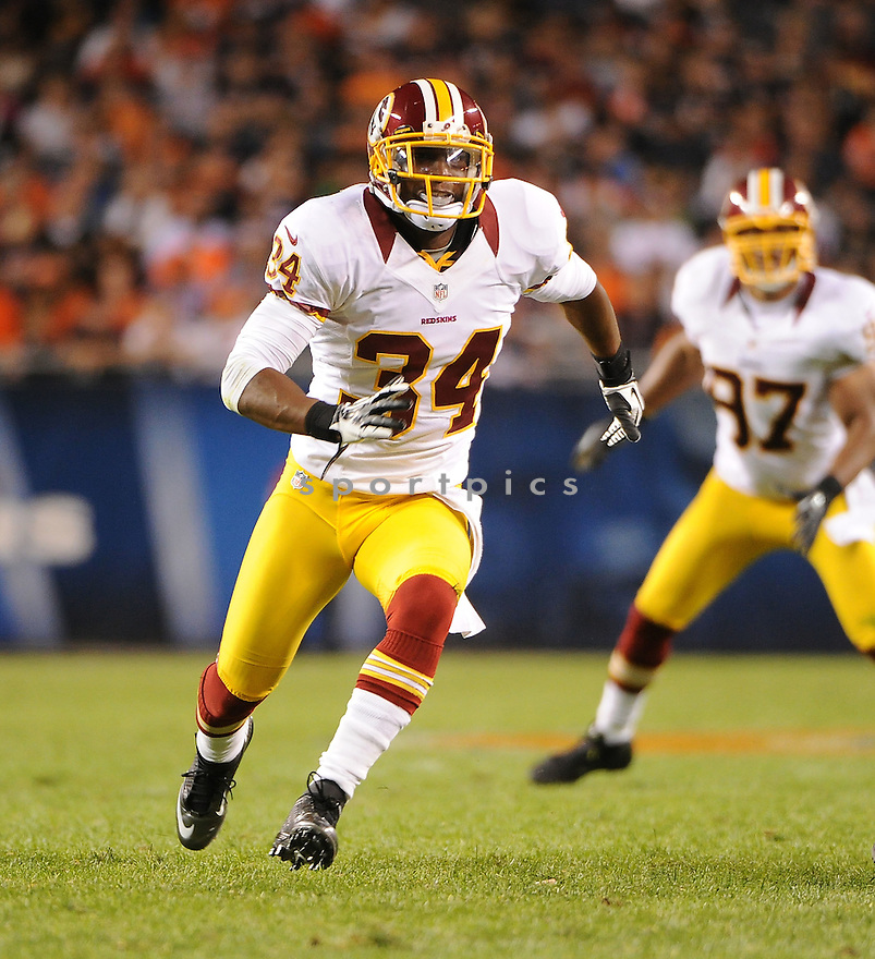 TANARD JACKSON (34), of the Washington Redskins, in action during the Redskins game against the Chicago Bears on August 18, 2012 at Soldier Field in Chicago, IL. The Bears beat the Redskins 33-31.