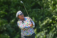 Christina Kim (USA) watches her tee shot on 17 during round 2 of the 2018 KPMG Women's PGA Championship, Kemper Lakes Golf Club, at Kildeer, Illinois, USA. 6/29/2018.<br /> Picture: Golffile | Ken Murray<br /> <br /> All photo usage must carry mandatory copyright credit (© Golffile | Ken Murray)