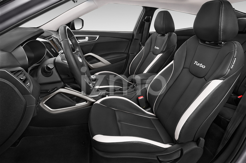 Front seat view of2015 Hyundai Veloster Turbo 3 Door Hatchback Front Seat car photos