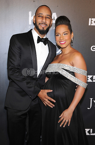 New York, NY- October 30: Swizz Beats and Alicia Keys attends Keep a Child Alive's 11Annual Black Ball at Hammerstein Ballroom on October 30, 2014 in New York City. Credit: John Palmer/MediaPunch