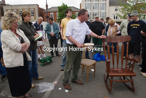 Boston Lincolnshire. Weekly auction in car park. General household stuff. 2008